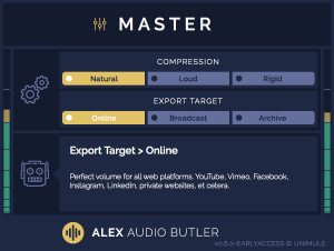 Early Access - Master channel plug-in interface.