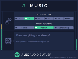 Early Access - Music channel plug-in interface.