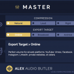 Alex Audio Butler - Early Access - Master channel plug-in interface.